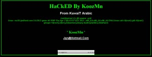 My hacked site page